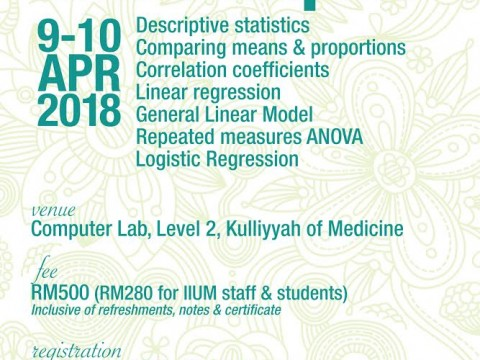 BIOSTATISTICS WORKSHOP NO. 1/2018