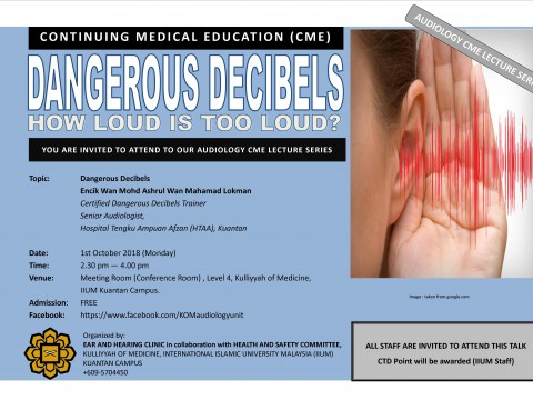 AWARENESS TALK: DANGEROUS DECIBELS