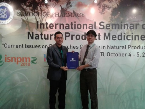 CONGRATULATIONS FOR THE 2ND ORAL PRESENTATION WINNER AT THE INTERNATIONAL SEMINAR ON NATURAL PRODUCTS MEDICINE 2 (ISNPM2)