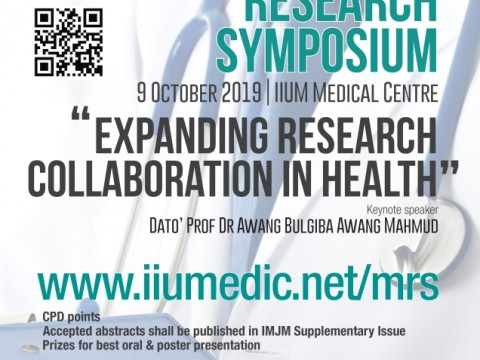 FIRST ANNOUNCEMENT - MEDICAL RESEARCH SYMPOSIUM (MRS) 2019