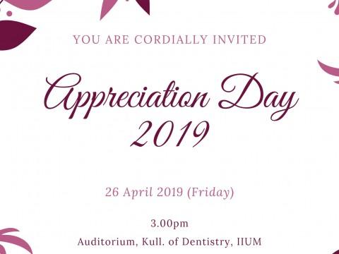 Appreciation Ceremony 2019