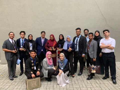 IIUM Model United Nations' Club won 'THE BEST DELEGATION AWARD'