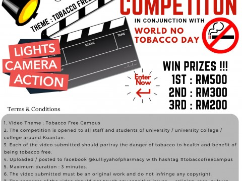 Winners of Short Video Competition during IIUM World No Tobacco Day 2019
