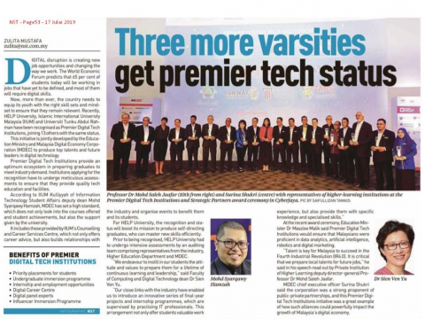 KICT has been awarded as one of the Premier Digital Tech institutions by MDEC. Congratulations!