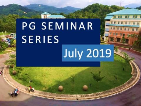 PG Seminar Series: July 2019