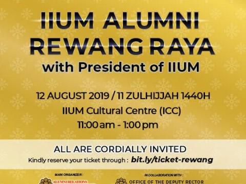UPDATED INFORMATION : IIUM Alumni Rewang Raya With President