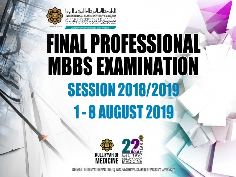 Final Professional MBBS Examination Session 2018/2019