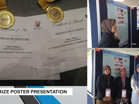 "Congrats KOD team for winning ""1st Prize Poster"" during 11th National Dental Students' Scientific Conference"