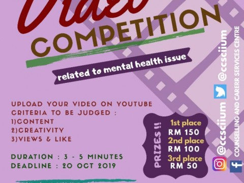 Video Competition (Related to Mental Health Issue)
