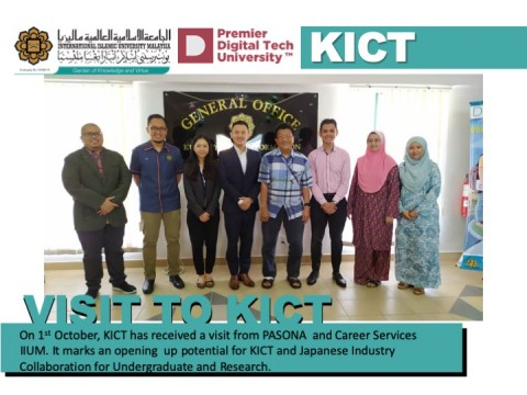 PASONA and Career Services IIUM have visited KICT