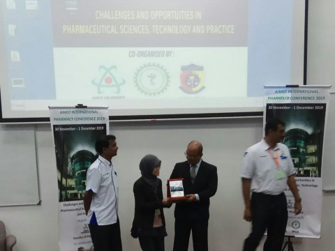 1st prize winner at AIMST International Pharmacy Conference