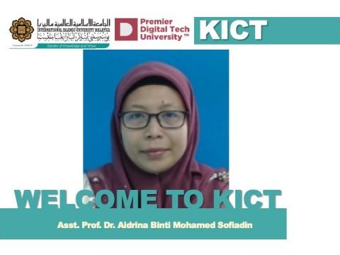 Welcome Asst. Prof. Dr. Aidrina Binti Mohamed Sofiadin