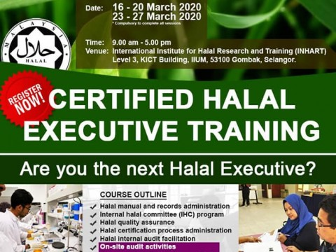 Certified Halal Executive Training March 2020