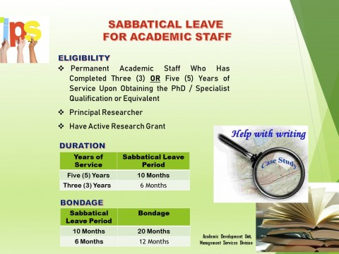 Sabbatical Leave for Academic