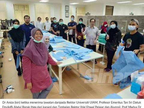 Jahit 70 sut PPE sehari