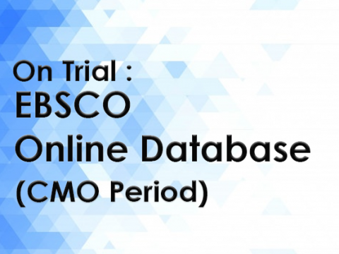 On Trial : EBSCO Online Database on EBSCOHost platform