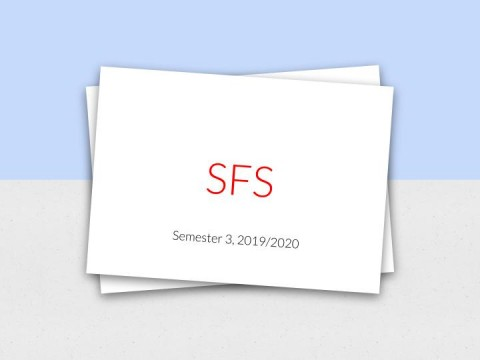 Notice of Student Feedback Survey (SFS) for Semester 3, 2019/2020