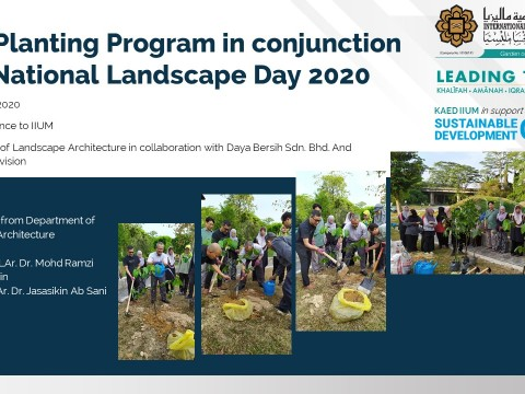 Tree Planting Program in conjunction with National Landscape Day 2020