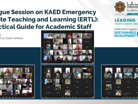 Dialogue Session on KAED Emergency Remote Teaching and Learning (ERTL): A Practical Guide for Academic Staff