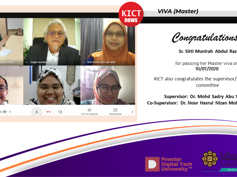 Congratulations  to Sister Sitti Munirah Abdul Razak