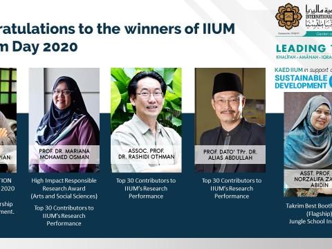 Congratulations to the winners of IIUM Takrim Day 2020!