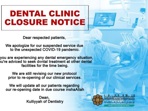 Dental Clinic Closure Notice