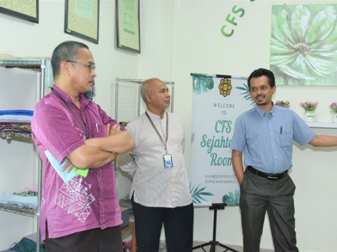 VISIT BY DIRECTOR OF SEJAHTERA CENTRE FOR SUSTAINABILITY AND HUMANITY