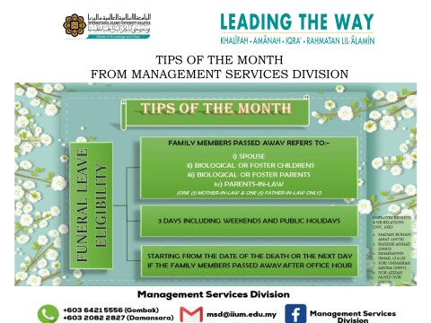 Tips of the Month : Funeral Leave