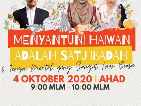 INVITATION TO PARTICIPATE ON TALKSHOW - MENYANTUNI HAIWAN ADALAH SATU IBADAH DAN TERAPI MENTAL YANG SANGAT LUAR BIASA