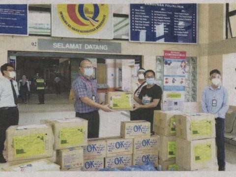 UIAM sumbang PPE untuk hospital di Sabah