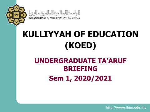 Announcement to New Students