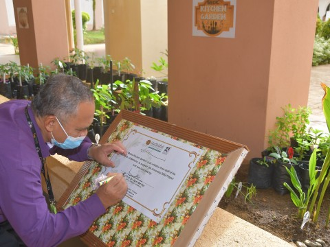 Inauguration Ceremony the Medic Kitchen Garden