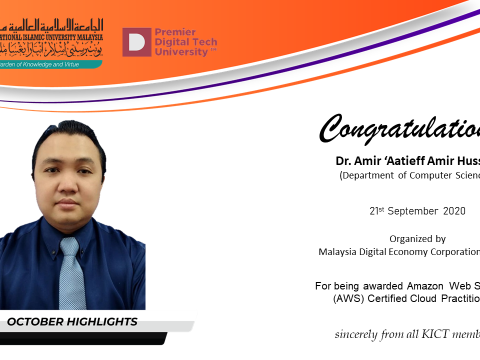 Congratulations  to Dr. Amir 'Aatieff