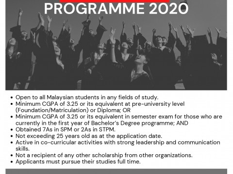 APPLICATION FOR MIDF EDUCATION SCHOLARSHIP PROGRAMME 2020