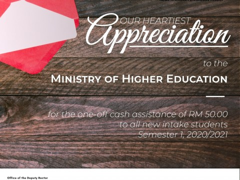 HEARTIEST APPRECIATION - MINISTRY OF HIGHER EDUCATION
