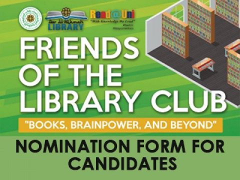 FRIENDS OF THE LIBRARY CLUB: NOMINATION FORM FOR CANDIDATES
