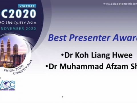 Our Staff Won The Best Presenter Award in Asia Optometric Congress (AOC)!