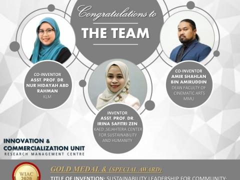 Congratulations for winning Gold Award & Special Award in WIAC 2020, Korea