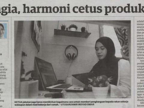 Bahagia, harmoni cetus produktiviti