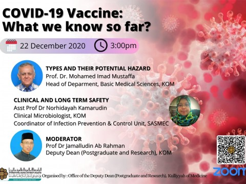 "SPECIAL CONTINUOUS MEDICAL EDUCATION (CME) VIDEO ENTITLED: ""COVID-19 VACCINE: WHAT WE KNOW SO FAR?"""