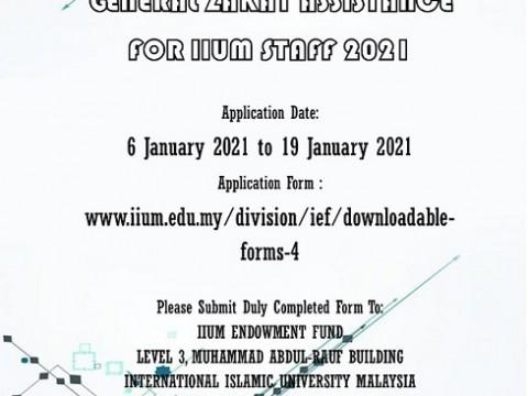 GENERAL ZAKAT ASSISTANCE FOR IIUM STAFF 2021