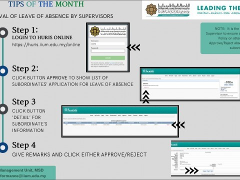 Tips of The Month : Approval of Leave of Absence by Supervisors
