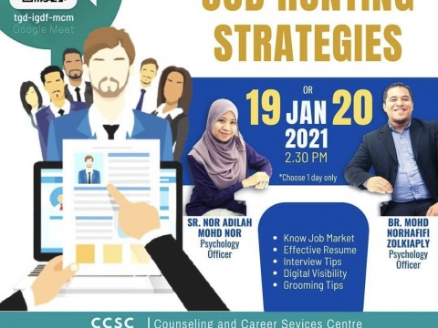 Job Hunting Strategies - Special Intervention Programme for IIUM Graduates 2020