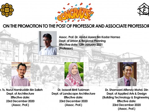 Congratulations for the Promotion of Professor and Associate Professor
