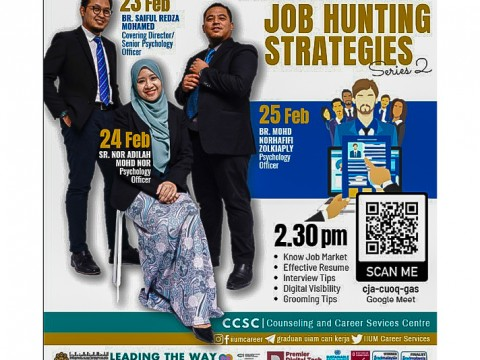 JOB HUNTING STRATEGIES PROGRAMME SERIES 2