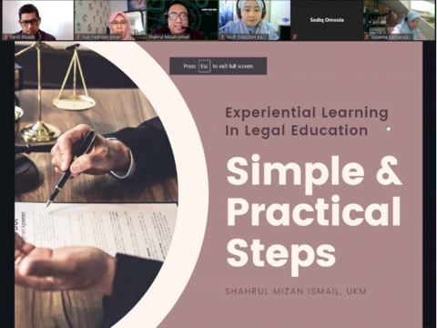 AIKOL PROVIDES TRAINING FOR EXPERIENTIAL LEARNING IN LEGAL EDUCATION IN THE ONLINE ENVIRONMENT