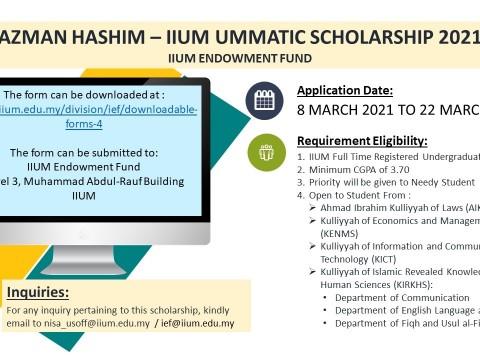 AZMAN HASHIM - IIUM UMMATIC SCHOLARSHIP 2021