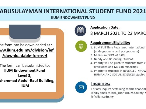 ABUSULAYMAN INTERNATIONAL STUDENT FUND 2021
