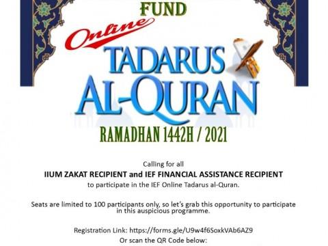 ONLINE TADARUS AL-QURAN - FOR IIUM STUDENTS ONLY