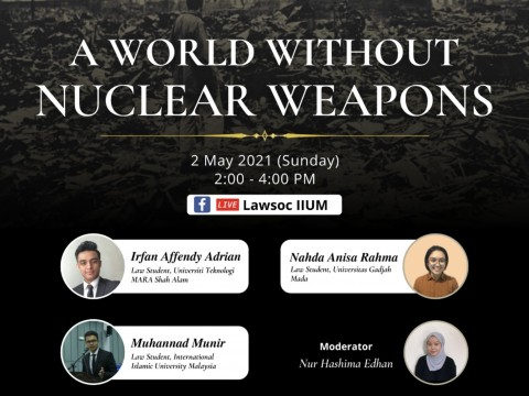 LAW STUDENTS CALL FOR A WORLD WITHOUT NUCLEAR WEAPONS